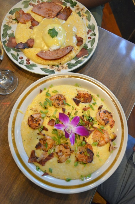 Shrimp and Grits at The Green Fork