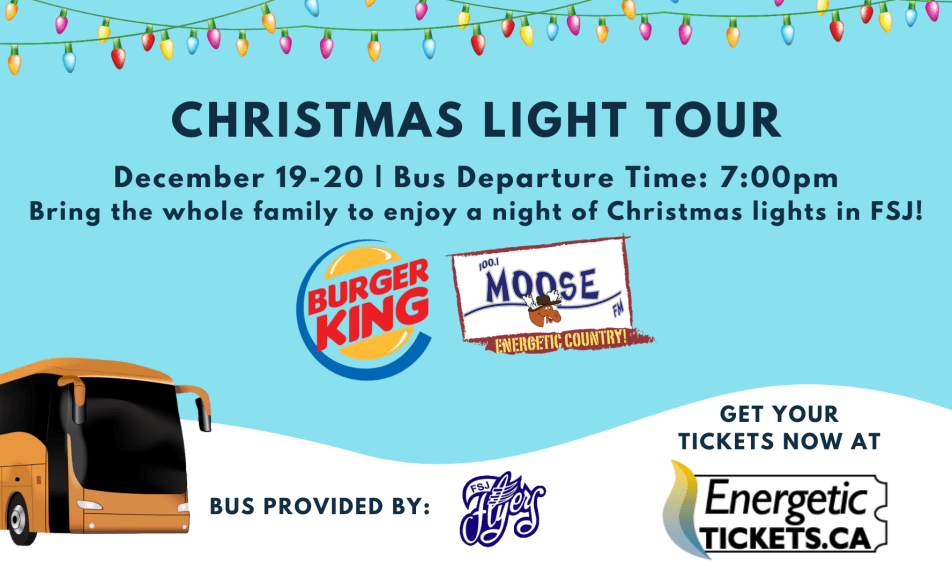 Community Christmas Light Tour – presented by Burger King and Moose FM