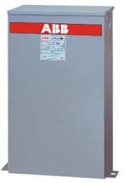Banco de capacitor 5 kvar, número de serie C484G05-3 marca ABB. El capacitor ABB tiene un aislante tipo seco y por lo tanto no tiene riesgo de fugas.