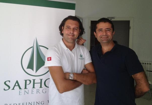 Anis Aouini und Hassine Labaied Quelle: https://www.facebook.com/SaphonEnergy/