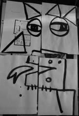 Picasso & Arcimboldo - encre