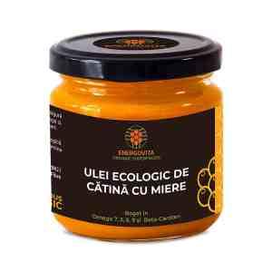 Ulei ecologic de catina cu miere 220 g