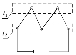 Схема работы термоэлектрического генератора