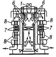 Вертикально-водотрубный паровой котел с Т-образной компоновкой