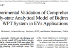 Experimental Validation of Bidirectional WPT System