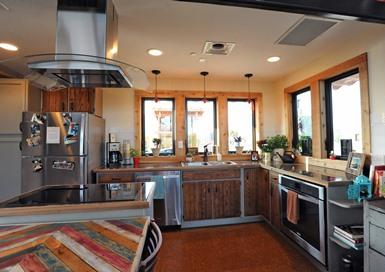 Fotografija kuhinje.  Fotografija ljubaznošću Thomasa Kelseya / Američkog ministarstva energetike Solar Decathlon