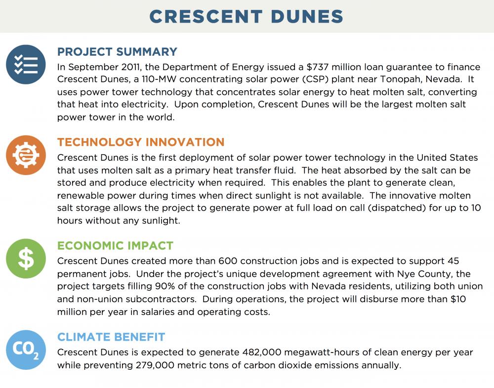 CRESCENT DUNES | Department of Energy