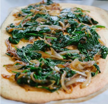 Spinach And Onion Flatbread From So Let's Hang Out