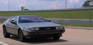 Elektro DeLorean Testfahrt