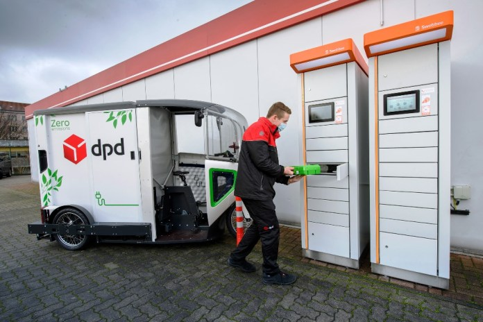 DPD-elektrofahrzeug