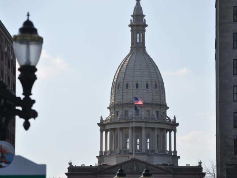 The Michigan Capitol Building.