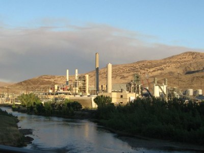 NV Energy's natural gas-fired Frank A. Tracy Generating Station is pictured east of Reno, Nevada