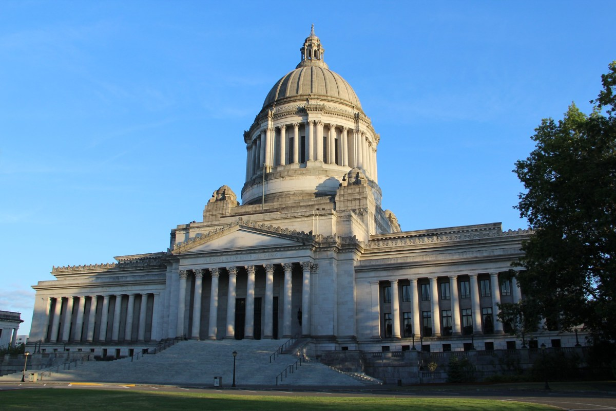The Washington State Capitol Building.