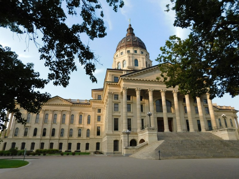The Kansas State Capitol Building.
