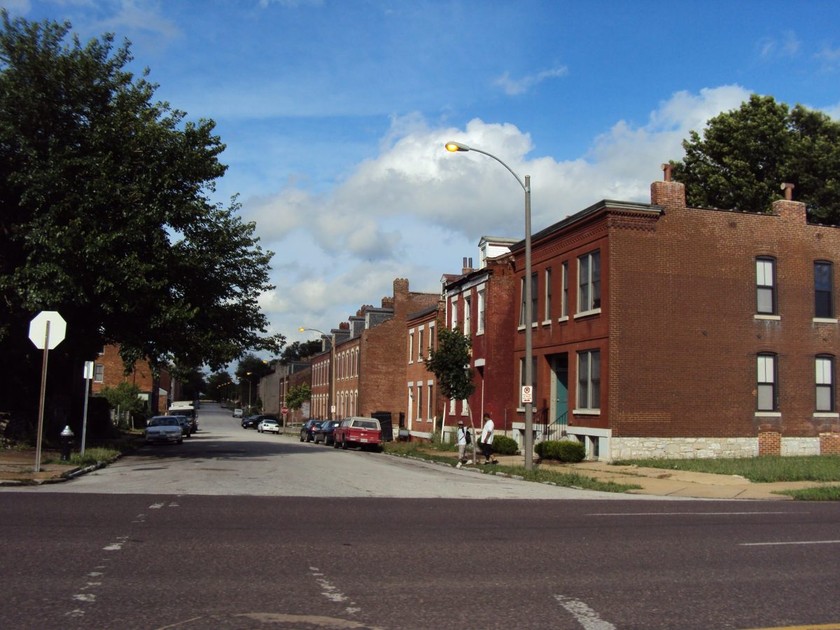 A row of houses in North St. Louis.