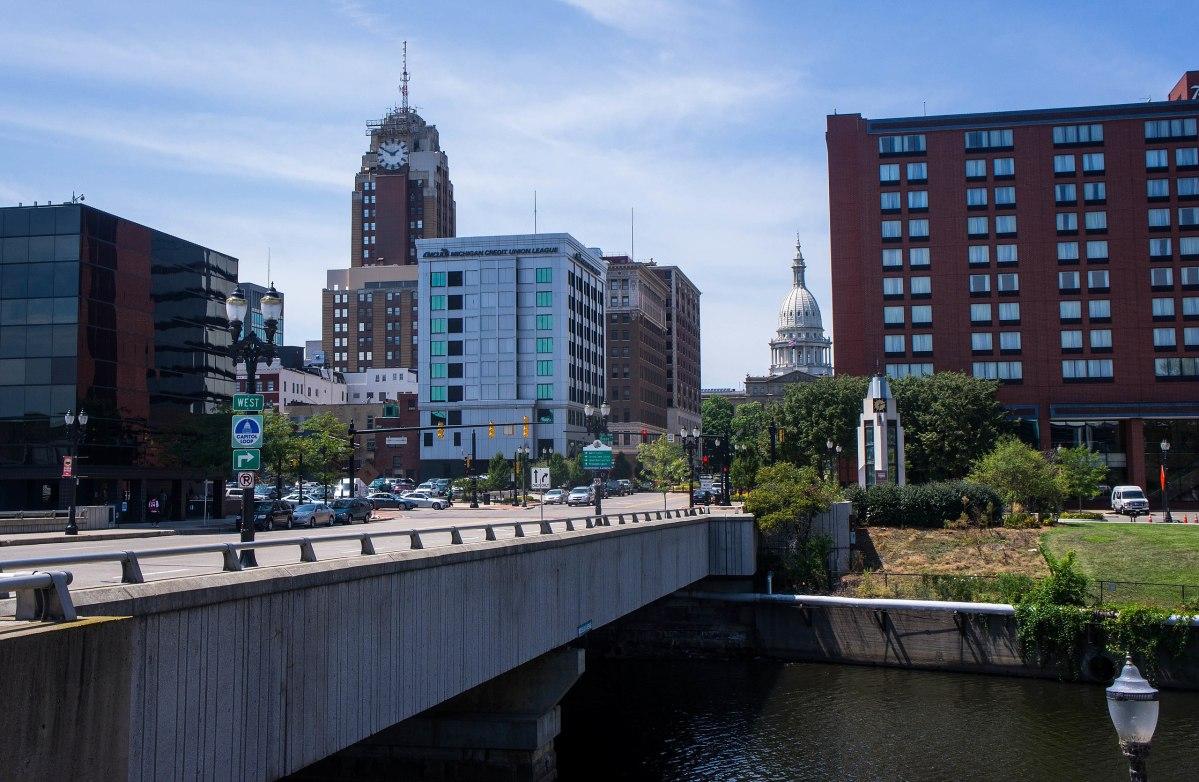 Downtown Lansing, Michigan.