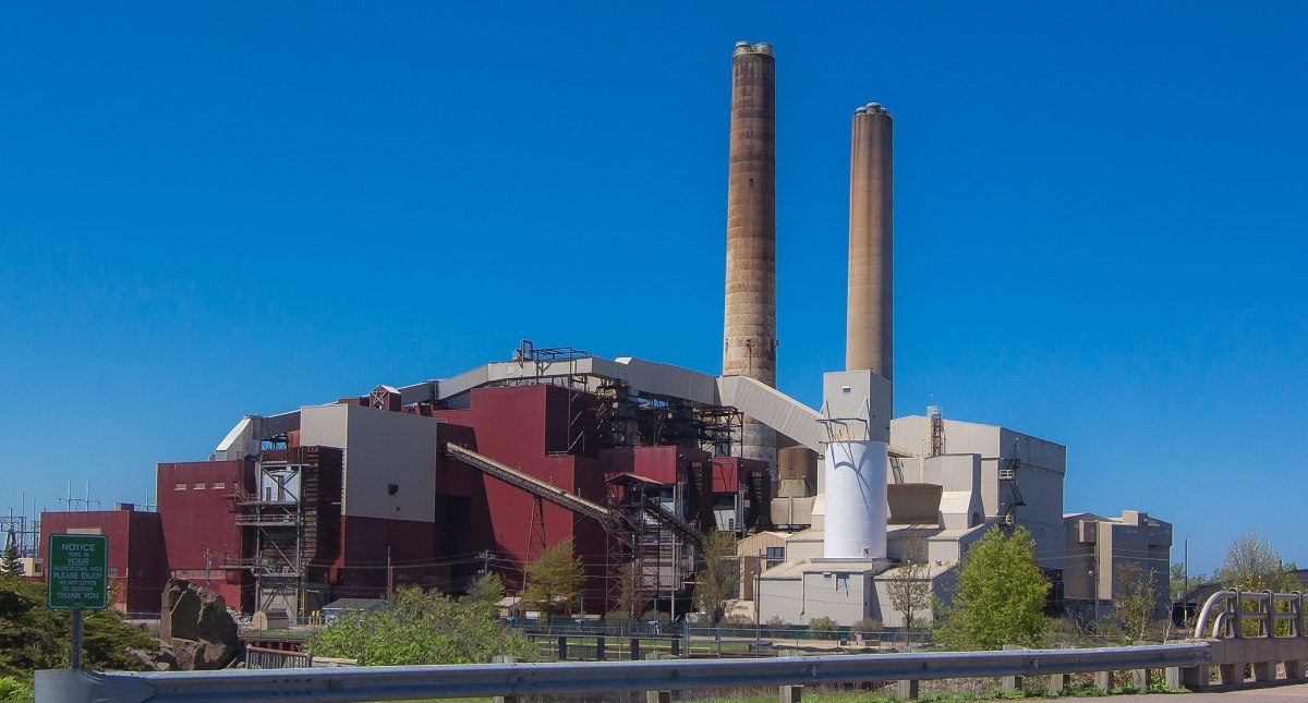 The Presque Isle Power Plant in Marquette Michigan.
