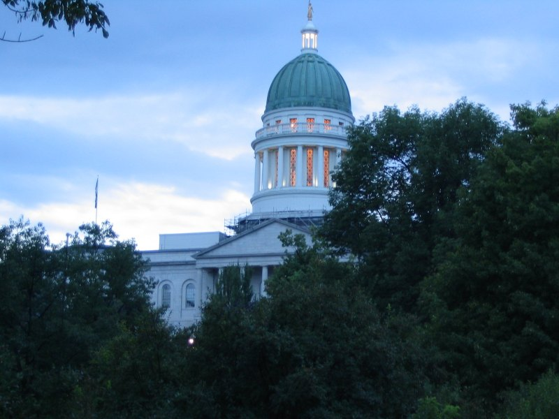 The Maine State Capitol Building in Augusta.