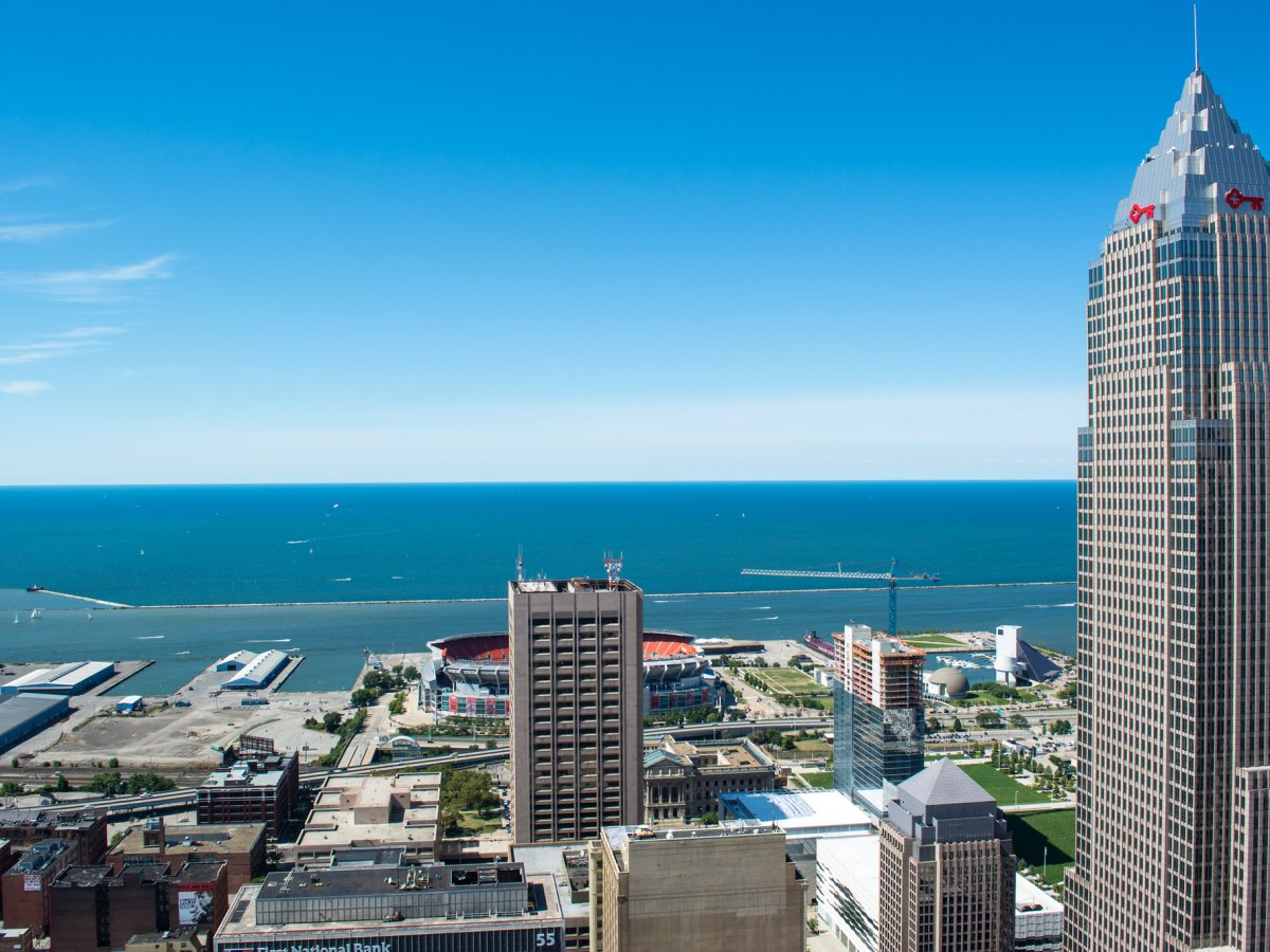 Lake Erie seen from Cleveland, Ohio.