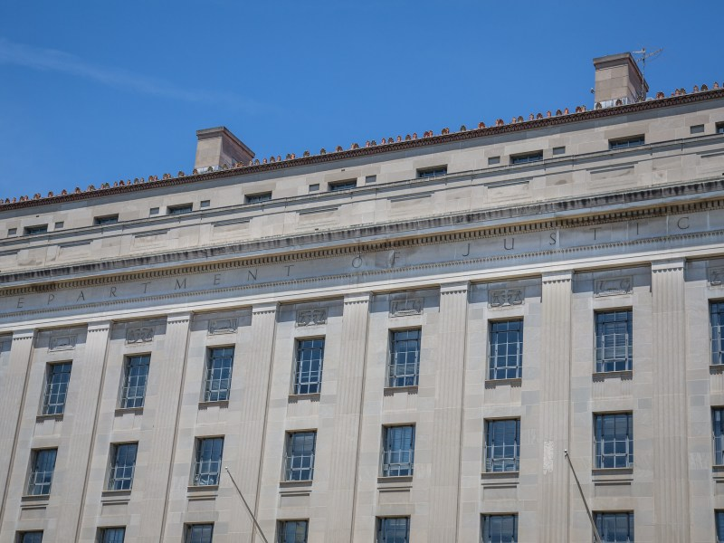 The United States Department of Justice Building in Washington, DC.