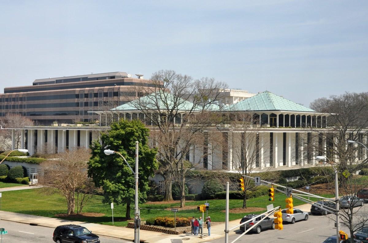The North Carolina Legislative Building in Raleigh.