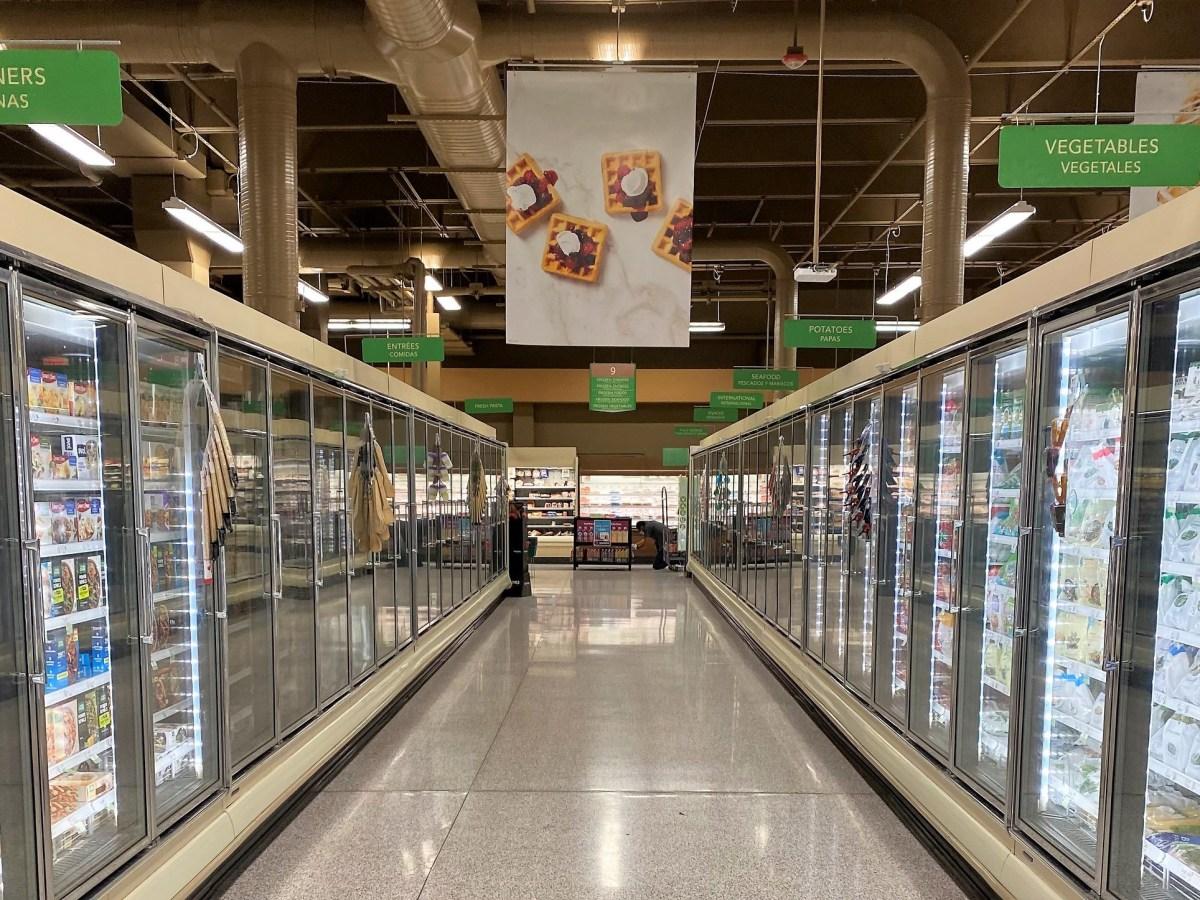 Supermarket frozen section