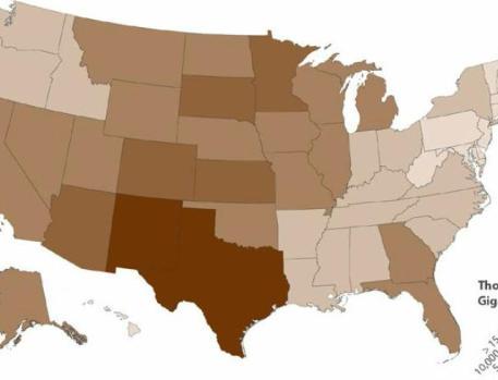 USA GIS utility-scale RURAL solar PV