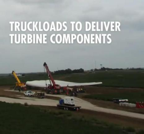 122 8 truckloads to deliver turbine components