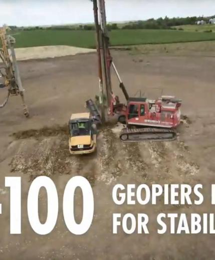 26 40-100 geopiers installed for stability