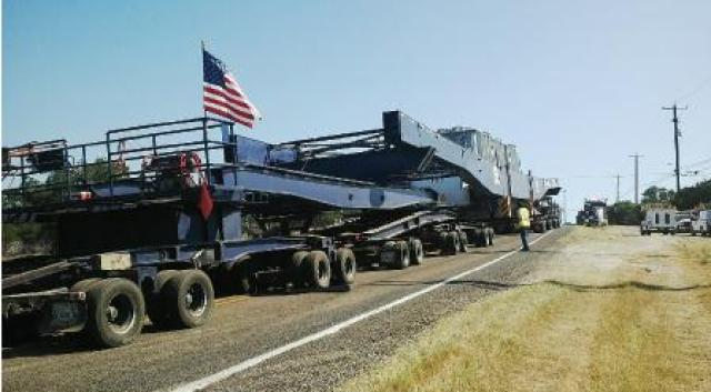 1.2 million pound transformer moving on Texas roads