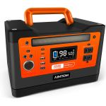 AIMTOM 540Wh Portable Power Station, Lithium Battery Pack with 110V/500W AC, 12V DC, USB, 96W Carport and 18W Type-C, Solar-Ready Generator
