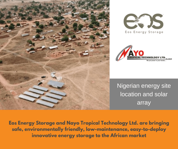 Eos partners with Nayo to deploy battery energy storage system in Nigeria