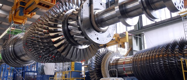 A combined cycle gas turbine with over 60% net efficiency - one of the examples