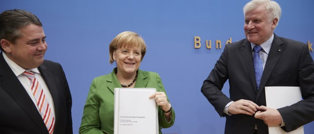 Won't make the renewable sector happy: The Coalition Agreement. (Photo by CDU / Laurence Chaperon)