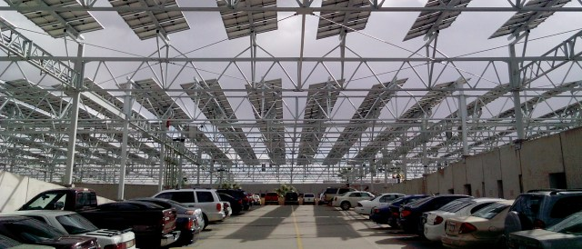PV installation over the parking space of Arizona State University