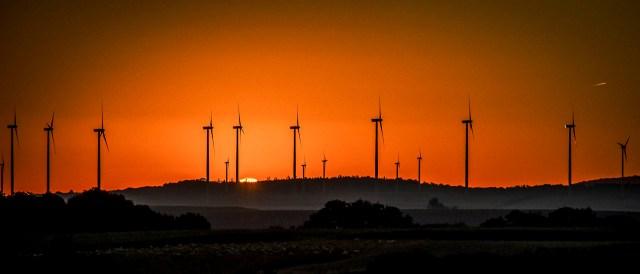 Wind Turbines in Sunrise