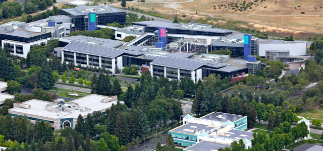 Googleplex with PV roofs