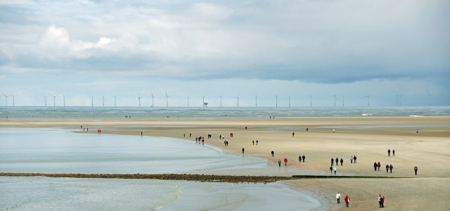 Offshore wind park in front of Borkum
