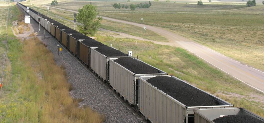 coal train in wyoming