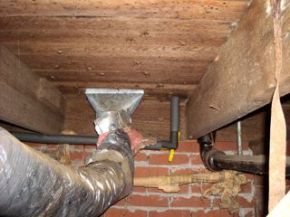 uninsulated floor and supply duct boot