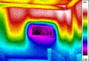 hot attic kneewall with mean radiant temperature problem, one of  the 4 factors of comfort