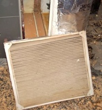 Old filter in new high efficiency HVAC system