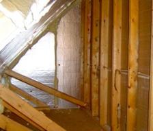 attic kneewall fiberglass batt insulation building envelope moved