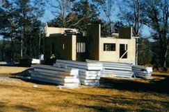 SIP structural insulated panels first floor walls assembled