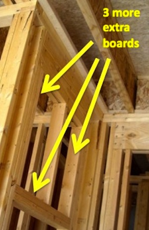 Advanced framing green building unnecessary boards