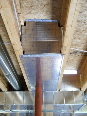 hvac duct return cardboard unsealed air flow
