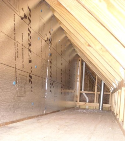 attic kneewall expanded polystyrene foamboard for sheathing Nashville