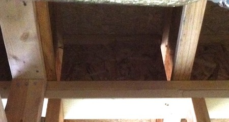 building enclosure air sealing garage ceiling i joists blocking