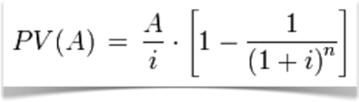 present value formula annual payments