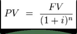 present value formula single payment